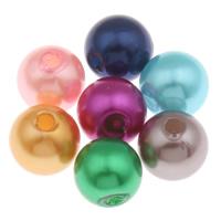 Koraliki plastikowe , Plastik ABS, Koło, mieszane kolory, 8mm, otwór:około 1.5mm, 1900komputery/torba, sprzedane przez torba