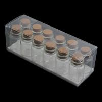 Butelka szklana Przechowalnia, Szkło, ze drewno korek, przezroczysty, 22x30mm, 12komputery/Box, sprzedane przez Box