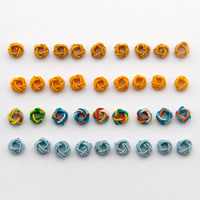 Woven Beads, Polyester, Flower, more colors for choice, 4x6mm, Hole:Approx 1-2mm, 1000PCs/Bag, Sold By Bag