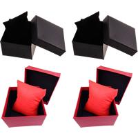 Kartonowe pudełko na bransoletkę, Tektura, ze Materiał nietkany, Kostka, dostępnych więcej kolorów, 88x82x50mm, sprzedane przez PC
