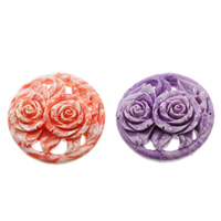 Fluted Giant Connector, Flower, 1/1 loop & layered, more colors for choice, 61x16mm, Hole:Approx 1mm, Sold By PC