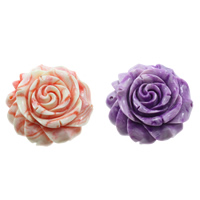 Fluted Giant Connector, Flower, 1/1 loop & layered, more colors for choice, 59x56x22mm, Hole:Approx 2mm, Sold By PC