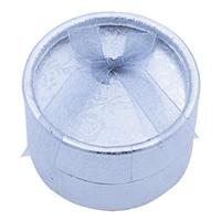 Tektura Pojedyncze pudełko na pierścionek, ze Gąbka & Organza & Welwet, Kolumna, srebro, 55x35mm, sprzedane przez PC