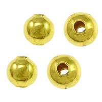 Messing kralen, Ronde, gold plated, nikkel, lood en cadmium vrij, 5mm, Gat:Ca 1.5mm, 100pC's/Bag, Verkocht door Bag