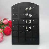 Plastic Earring Display, black, 85x135mm, Sold By PC