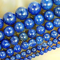 Koraliki Lapis Lazuli, Lapis lazuli naturalny, Koło, różnej wielkości do wyboru, bez zawartości niklu, ołowiu i kadmu, otwór:około 1-2mm, sprzedawane na około 15 cal Strand