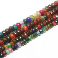 Agate Beads natural mixed colors Approx 1mm Sold Per Approx 15.8 Inch Strand
