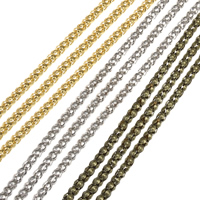 Iron Jewelry Chain, plated, lantern chain, more colors for choice, nickel, lead & cadmium free, 3.2mm, 95m/Bag, Sold By Bag