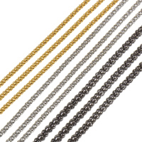 Iron Jewelry Chain, plated, lantern chain, more colors for choice, nickel, lead & cadmium free, 2.4mm, 95m/Bag, Sold By Bag