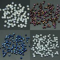 Symetryczne kryształowe koraliki, Kryształ, Podwójny stożek, Platerowane kolorem AB, fasetowany, Więcej kolorów do wyboru, 4mm, otwór:około 1mm, około 100komputery/torba, sprzedane przez torba