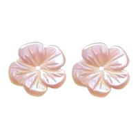 Naturalnie różowa muszla - koralik, Muszla różowa, Kwiat, Naturalne, 10x10x1mm, otwór:około 0.6mm, 30komputery/wiele, sprzedane przez wiele