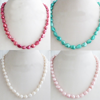 Natural Freshwater Pearl Necklace Baroque 8-9mm Sold Per 15 Inch Strand