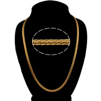 Men Necklace, Brass, 18K gold plated, nickel, lead & cadmium free, 5x3mm, Sold Per Approx 24 Inch Strand