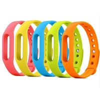 Силикон Сменный браслет, с алюминий, Много цветов для выбора, 15mm, Продан через Приблизительно 9 дюймовый Strand