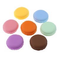 Macaron Storage Box Polypropyleen (PP) Biscuit gemengde kleuren 42.5x19.5mm 5pC's/Lot Verkocht door Lot