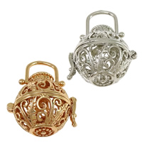 Pregnant Ball Locket Pendant, Brass, plated, high quality plating and never fade & hollow, more colors for choice, nickel, lead & cadmium free, 26x24x21mm, Hole:Approx 10x8mm, Inner Diameter:Approx 18mm, 30PCs/Lot, Sold By Lot