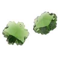 CRYSTALLIZED™ Element Crystal Pendants, Flower, Peridot, 14x12.50x8mm, Hole:Approx 1mm, Sold By PC