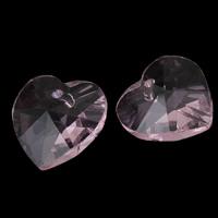 Zawieszki kryształowe, Kryształ, Serce, jasnobrzoskwiniowy, 14x8mm, otwór:około 1mm, 10komputery/torba, sprzedane przez torba