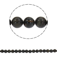 Natural Blue Agate Beads, Black Agate, Round, different size for choice, Hole:Approx 1mm, Sold Per Approx 15.5 Inch Strand