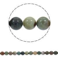 Prirodni indijski ahat perle, Indijski Agate, Krug, sintetički, različite veličine za izbor, Rupa:Približno 1mm, Prodano Per Približno 15 inčni Strand