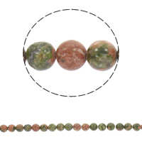 Natural Unakite Beads, Round, different size for choice, Hole:Approx 1mm, Sold Per Approx 15 Inch Strand