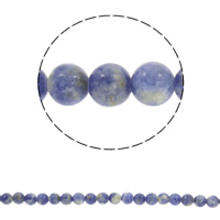 Natural Blue Spot Stone Beads, Round, different size for choice, Hole:Approx 1mm, Sold Per Approx 15 Inch Strand