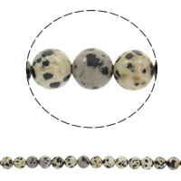 Natural Dalmatian Beads, Round, different size for choice, Hole:Approx 1mm, Sold Per Approx 15 Inch Strand