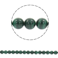 Natural Malachite Beads, Round, different size for choice, Hole:Approx 1mm, Sold Per Approx 15.5 Inch Strand