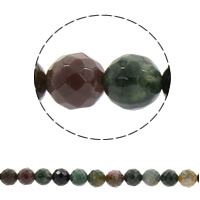 Natural Indian Agate Beads, Round, different size for choice & faceted, Hole:Approx 1mm, Sold Per Approx 14.5 Inch Strand