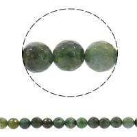Luonnollinen Moss akaatti helmet, Pyöreä, synteettinen, erikokoisia valinnalle & kasvot, Reikä:N. 1mm, Myyty Per N. 15 tuuma Strand
