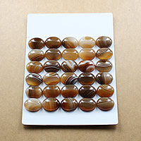 Lace Agate Cabochon, Flat Oval, natural, different size for choice & flat back, coffee color, Sold By Lot