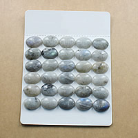 Labradorite Cabochon, Flat Oval, natural, different size for choice & flat back, Sold By Lot