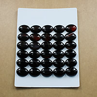 Black Agate Cabochon, Flat Oval, natural, different size for choice & flat back, Grade AB, Sold By Lot