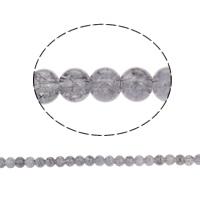 الخرز فرقعة الزجاج, زجاج, جولة, رمادي, 8mm, حفرة:تقريبا 1.5mm, طول:تقريبا 31.4 بوصة, 10جدائل/حقيبة, تباع بواسطة حقيبة