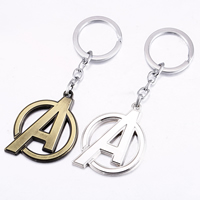 Zinc Alloy Key Chain, Letter A, plated, more colors for choice, nickel, lead & cadmium free, 50x40mm, Sold By Strand