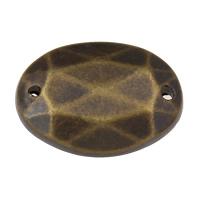 Акриловые соединители, Акрил, Плоская овальная форма, Покрытие под бронзу старую, граненый & 1/1 петля, 18x13x3mm, отверстие:Приблизительно 1mm, 2Сумки/Лот, Приблизительно 135ПК/сумка, продается Лот