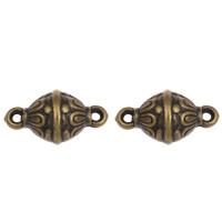 Акриловые соединители, Акрил, Цилиндрическая форма, Покрытие под бронзу старую, 1/1 петля, 23x13mm, отверстие:Приблизительно 2mm, 2Сумки/Лот, Приблизительно 400ПК/сумка, продается Лот