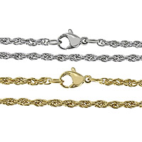 Stainless Steel Chain Necklace plated rope chain 2.50mm Length:Approx 20 Inch