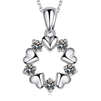 Rhinestone Brass Pendants, Flower, real silver plated, with rhinestone, nickel, lead & cadmium free, 17x11mm, Hole:Approx 3-5mm, Sold By PC