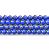 Natural Lapis Lazuli Beads, Round, 4mm, Hole:Approx 1mm, Approx 95PCs/Strand, Sold Per Approx 15.5 Inch Strand