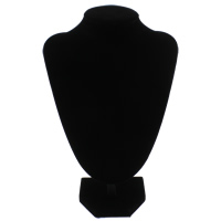 Velveteen Necklace Display with Wood black 150x222x86mm