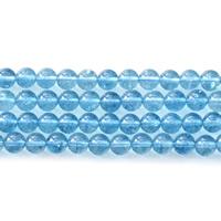 Abalorios de Cuarzo Craquelado, Esférico, diverso tamaño para la opción, azul claro, agujero:aproximado 1mm, Vendido para aproximado 15.5 Inch Sarta