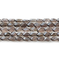 Natural Smoky Quartz Beads, Twist, 7x12mm, Hole:Approx 1mm, Approx 32PCs/Strand, Sold Per Approx 15.5 Inch Strand