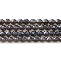 Natural Smoky Quartz Beads, Round, different size for choice & faceted, Hole:Approx 1mm, Sold Per Approx 15.5 Inch Strand