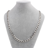Stainless Steel Chain Necklace curb chain original color Sold Per Approx 23.5 Inch Strand