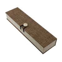 Linen Necklace Box, with Sponge & Wood, Rectangle, 224x66x38mm, 12PCs/Lot, Sold By Lot