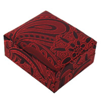 Velveteen Pendant Box, with Cardboard, Square, red, 70x80x38mm, 24PCs/Lot, Sold By Lot