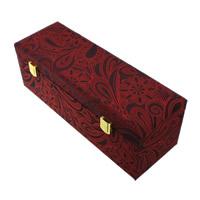 Satin Bracelet Box, with Sponge & Wood & Zinc Alloy, Rectangle, gold color plated, 300x100x105mm, 3PCs/Lot, Sold By Lot