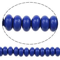 Koraliki z żywicy, żywica, Okrąg, imitacja Lapis Lazuli, 4x8x8mm, otwór:około 2mm, długość:około 16 cal, 3nici/wiele, około 90komputery/Strand, sprzedane przez wiele