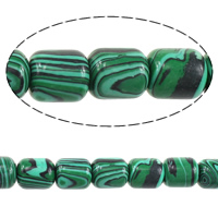 Natural Malachite Beads, Column, 14x12x12mm, Hole:Approx 2mm, Length:Approx 15.5 Inch, 3Strands/Lot, Approx 28PCs/Strand, Sold By Lot